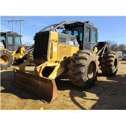 2011 CAT 525C SKIDDER, VIN/SN:52501221 - SINGLE ARCH, WINCH, CAB, A/C, 30.5L-32 TIRES, METER READING
