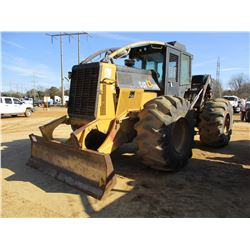 CAT 525C SKIDDER, VIN/SN:52500341 - SINGLE ARCH, WINCH, CAB, A/C, 30.5L-32 TIRES, METER READING 16,5
