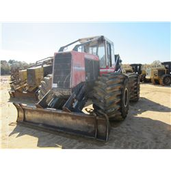 PRENTICE 2432 SKIDDER, VIN/SN:PS15405 - DUAL ARCH, CAB, A/C, 66X43-25 TIRES, METER READING 8,546 HOU