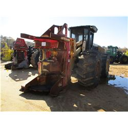 2011 CAT 573 FELLER BUNCHER, VIN/SN:HA19945 - PRENTICE SH-56 SAW HEAD, CAB, A/, 30.5L-32 TIRES, METE