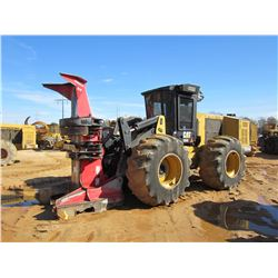 2014 CAT 553C FELLER BUNCHER, VIN/SN:PGR00254 - PRENTICE SC57 SAW HEAD, CAB, A/C, 30.5-32 TIRES, MET