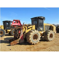 CAT 553 FELLER BUNCHER, VIN/SN:HA20006 - PRENTICE SH-50 SAW HEAD, CAB, A/C, 28L-26 TIRES, METER READ