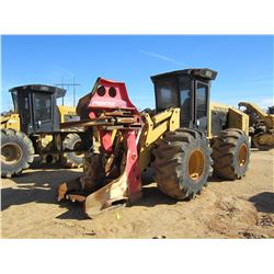 CAT 553C FELLER BUNCHER, VIN/SN:HA19802 - PRENTICE SH50 SAW HEAD, CAB, A/C, 28L-26 TIRES, METER READ
