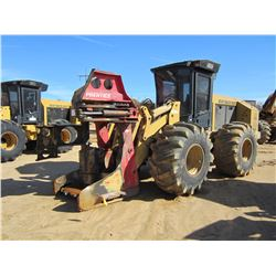CAT 553 FELLER BUNCHER, VIN/SN:19837 - PRENTICE SH50 SAW HEAD, CAB, A/C, 34.5LS-2 TIRES