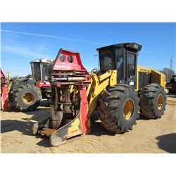 CAT 553 FELLER BUNCHER, VIN/SN:19863 - PRENTICE SH50 SAW HEAD, CAB, A/C, 28L-26 TIRES, METER READING
