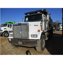 2006 WESTERN STAR DUMP, VIN/SN:5KKHAEDE16PW09972 - TRI-AXLE, C-13 CAT DIESEL ENGINE, 10 SPEED TRANS,
