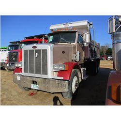 2004 PETERBILT 378 DUMP, VIN/SN:1NPFLU0X54D819616 - T/A, CAT C12 ENGINE, 10 SPEED TRANS, ENGINE BRAK