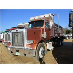 2004 PETERBILT 378 DUMP, VIN/SN:1NPFLU0X14D819614 - T/A, CAT C12 ENGINE, 10 SPEED TRANS, ENGINE BRAK