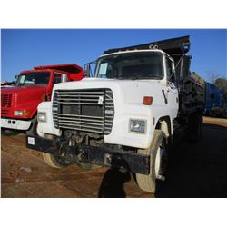 1997 FORD DUMP, VIN/SN:1FDYU90T9VVA14300 - T/A, DIESEL ENGINE, 10 SPEED TRANS, 14' DUMP BODY, 11R22.