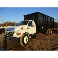 2007 FORD F650 ROLL OFF, VIN/SN:3FRNF65A37V515345 - S/A, CUMMINS DIESEL ENGINE, A/T, 295/75R22.5 TIR