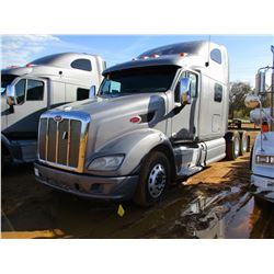 2012 PETERBILT TRUCK TRACTOR, VIN/SN:1XP4DP9X6CD141228 - T/A, 455HP PACCAR MX13, 13 SPEED TRANS, 40K