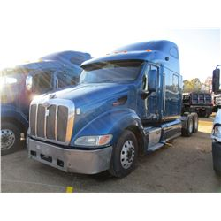 2007 PETERBILT 387 TRUCK TRACTOR, VIN/SN:1XP7DB9X27D654210 - T/A, CAT C15, 10 SPEED TRANS, ENGINE BR