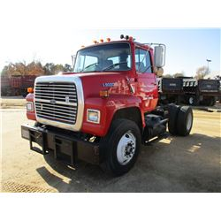 1990 FORD L9000 TRUCK TRACTOR, VIN/SN:1FDYR90X3LVA34902 - S/A, CAT DIESEL ENGINE, 8 SPEED TRANS, GVW