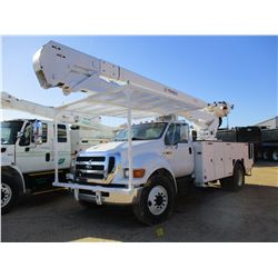 2007 FORD F750 BUCKET TRUCK, VIN/SN:3FRXF75T07V418605 - S/A, CAT C7 DIESEL ENGINE, ALLISON A/T, TERE