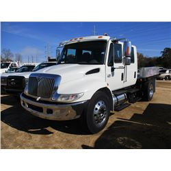 2006 INTERNATIONAL 4300 FLATBED, VIN/SN:1HTMMAAL66H228330 - S/A, CREW CAB, DT466 ENGINE, ALLISON A/T
