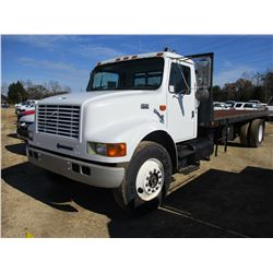 1999 INTERNATIONAL 4900 ROLLBACK TRUCK, VIN/SN:1H9SDAAN4XH600581 - S/A, HCI DIESEL ENGINE, 6 SPEED T