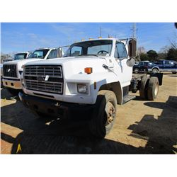 1994 FORD F700 CAB & CHASSIS, VIN/SN:1FDWK74C0RVA00660 - FORD DIESEL ENGINE, A/T TRANS, ODOMETER REA