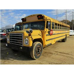 1987 INTERNATIONAL S-1800 BUS, - S/A, DIESEL ENGINE, A/T, ODOMETER READING 79,854 MILES (CITY OWNED)