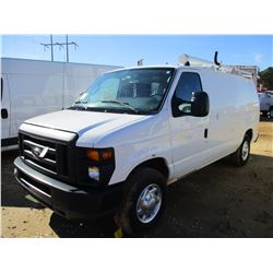 2011 FORD E250 VAN, VIN/SN:1FTNEZEL7B0A10462 - CNG GAS ENGINE, A/T, ODOMETER READING 65,857 MILES