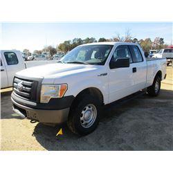2011 FORD F150XL PICK UP, VIN/SN:1FTEX1EM0BFB04233 - 4X4, EXT CAB, GAS ENGINE, A/T, ODOMETER READING