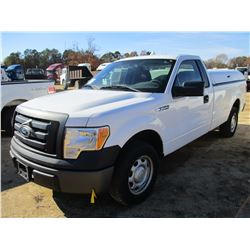 2010 FORD F150 XL PICK UP, VIN/SN:1FTMF1CW8AKE72328 - GAS ENGINE, A/T, BED COVER, ODOMETER READING 2