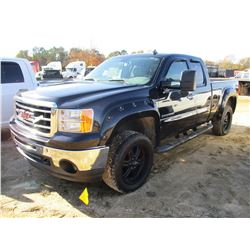 2013 GMC SIERRA SLE PICKUP, VIN/SN:1GTR2VE79DZ272598 - 4X4, EXT CAB, GAS ENGINE, A/T, ODOMETER READI