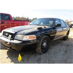 2011 FORD CROWN VICTORIA VIN/SN:2FABP7BVXBX124129 - V8 GAS ENGINE, A/T (COUNTY OWNED)