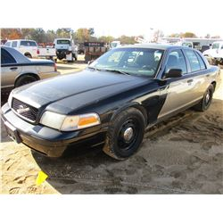 2010 FORD CROWN VICTORIA VIN/SN:2FABP7BV4AX106630 - V8 GAS ENGINE, A/T, ODOMETER READING 187,027 MIL