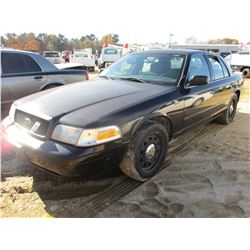 2008 FORD CROWN VICTORIA VIN/SN:2FAFP71V68X180368 - V8 GAS ENGINE, A/T, ODOMETER READING 127,022 MIL