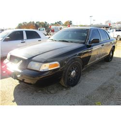 2008 FORD CROWN VICTORIA VIN/SN:2FAFP71V78X180380 - V8 GAS ENGINE, A/T, ODOMETER READING 190,499 MIL