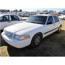2005 FORD CROWN VICTORIA VIN/SN:2FAFP74W85X169033 - V8 GAS ENGINE, A/T, ODOMETER READING 194,302 MIL