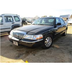 2005 MERCURY GRAND MARQUIS VIN/SN:2MEFM74W55X628293 - V8 GAS ENGINE, A/T, ODOMETER READING 146,283 M