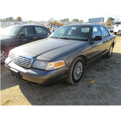 2004 FORD CROWN VICTORIA VIN/SN:2FAFP73W64X127959 - V8 GAS ENGINE, A/T, ODOMETER READING 148,627 MIL