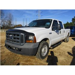 2006 FORD F350 PICK UP, VIN/SN:1FTSW30546EG74172 - CREW CAB, V8 GAS ENGINE, A/T, ODOMETER READING 13