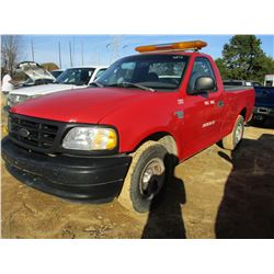2003 FORD F150XL PICKUP, VIN/SN:1FTRF17WX3NB25374 - V8 GAS ENGINE, A/T, ODOMETER READING 232,815 MIL