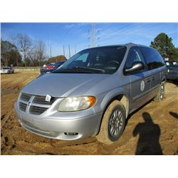 2007 DODGE GRAND CARAVAN VIN/SN:1D4GP24E97B213882 - V6 GAS ENGINE, A/T, ODOMETER READING 146,323 MIL