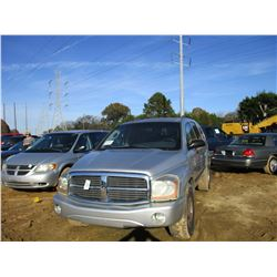 2006 DODGE DURANGO SLT VIN/SN:1D4HD48N16F139027 - GAS ENGINE, A/T
