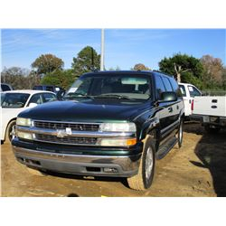 2004 CHEVROLET SUBURBAN VIN/SN:3GNEC16Z34G275184 - GAS ENGINE, A/T, ODOMETER READING 177,169 MILES