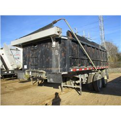 1970 RODGERS DT20 DUMP TRAILER, VIN/SN:1034 - T/A, 20' LENGTH, FRAME TYPE, 11R22.5 TIRES