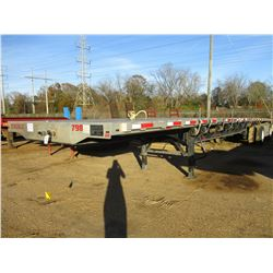 2017 TRANSCRIPT 554C FLATBED TRAILER, VIN/SN:1TTF482C8H3027868 - T/A, SPREAD AXLE, 48' LENGTH, 102""