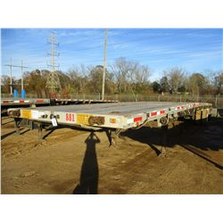 2001 BENSON INTERNATIONAL FLATBED TRAILER, VIN/SN:5DMFABTB11M000532 - 8' X 48', SPREAD AXLE