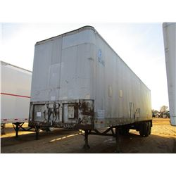 FRUEHAUF VAN TRAILER, VIN/SN:537887 - T/A, 40' LENGTH, BARN DOOR, 10.00-20 TIRES