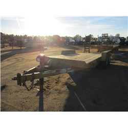 "1984 CALIBER TAG TRAILER, VIN/SN:57BEM7184E1001206 - T/A, 16' LENGTH, 84"" WIDTH, DOVE TAIL, RAMPS"