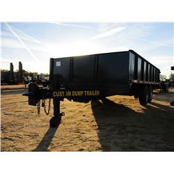 CUSTOM DUMP TRAILER, - T/A, 16' LENGTH, 8' WIDE, DUMP BODY W/SIDES, SWING OUT REAR DOOR, PENTLE HITC