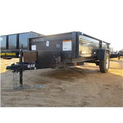 "2018 CARRY ON DUMP TRAILER, VIN/SN:4YMBD101XJG033136 - S/A, 10' LENGTH, 65"" WIDTH, 225/75 D15 TIRES"