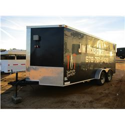 2016 FABIQUE PAR ENCLOSED TRAILER, VIN/SN:54GVC16T8G702991 - T/A, 18' LENGTH, BUMPER PULL, HUSKIE CH