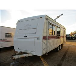 KNIGHT SERIES BY KING OF THE ROAD TRAVEL TRAILOR, - TRI-AXLE, 25' LENGTH, ONE SIDE OUT