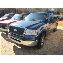 2008 FORD F150 PICK UP, VIN/SN:1FTRW12W88KF07290 - CREW CAB, GAS ENGINE, A/T (DOES NOT OPERATE) (COU