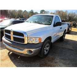 2002 DODGE RAM 1500 PICKUP, VIN/SN:1D7HA16N02J248485 - GAS ENGINE, A/T (DOES NOT OPERATE) (COUNTY OW