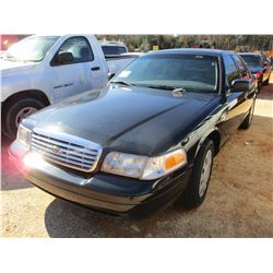 2007 FORD CROWN VICTORIA VIN/SN:2FAFP73V67X134454 - GAS ENGINE, A/T (DOES NOT OPERATE) (COUNTY OWNED